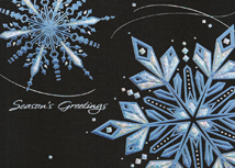 Sparkling Night Sky Holiday Cards